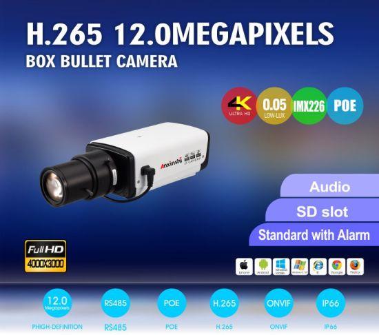 China 4K Manual Iris IR Imx226 IP 12 0MP Box Camera Poe SD