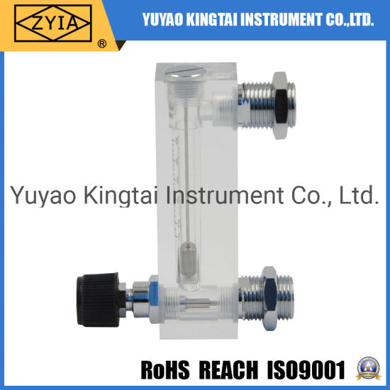 Portable Acrylic Rotameter Air Flow Meter with Adjustable Valve
