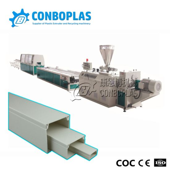 Plastic Extruder Machine PVC Cable Trunking Profile Production Extrusion Line