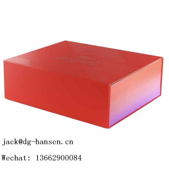 High-End Printing Collapsible Chocolate or Wine Gift Paper Packaging Box