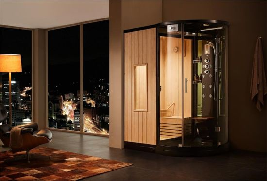 Modern Style Wet Steam Shower and Dry Sauna Room Multi-Function Canbin
