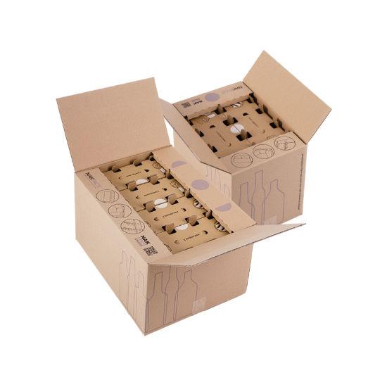 Custom Design Printing Luxury Wine Mailing Corrugated Paper Box