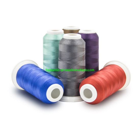 Good Quality Bright Color 120d/2 100% 5000m Polyester Embroidery Thread pictures & photos