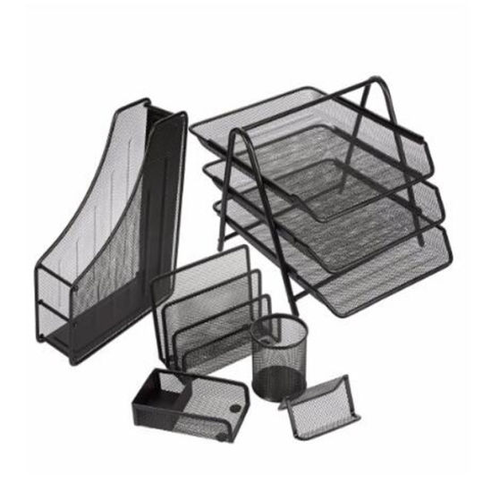 High Quality Powder Coated Metal Mesh 6 Pieces of Office Stationery