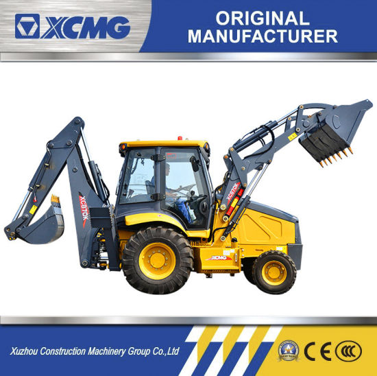 XCMG Manufacturer Xc870HK Chinese 4X4 Mini Small Tractor Excavator Wheel Towable Backhoe Loaders with CE Price for Sale