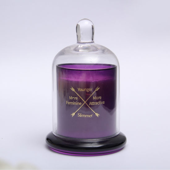 Custom Logo Borosilicate Glass Wedding Scented Candles with Cover