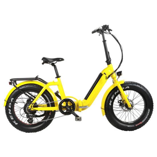 Electric Folding Bike with Hidden Battery