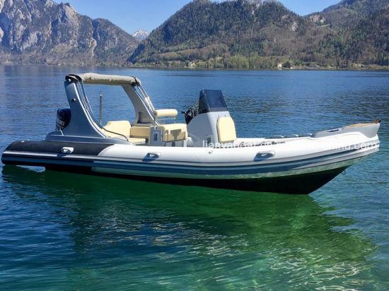 Liya 22feet Fiberglass Hull Rib Boat High Speed Boat Yacht