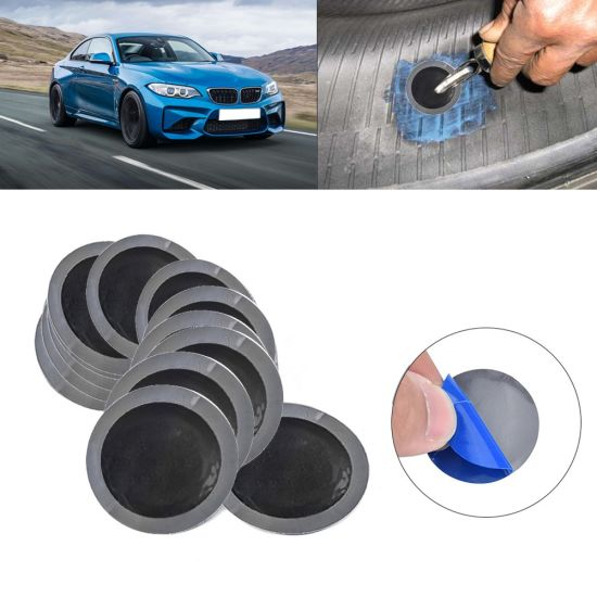 Car Round Natural Rubber Tire Tyre Puncture Repair Cold Patch Tubeless Patches