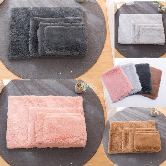 Manufacturer Customized Size Soft Fur Pet Dog Sleeping Pad Pet Warm Mattress with PP Cotton