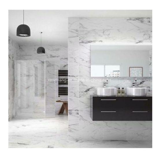 Pure Grey White Marble Flooring Tiles