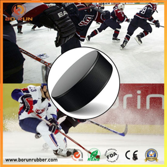 Eco-Friendly Cheap Price Custom Design Standard Size Non-Toxic Rubber Ice Hockey Puck for Wholesale
