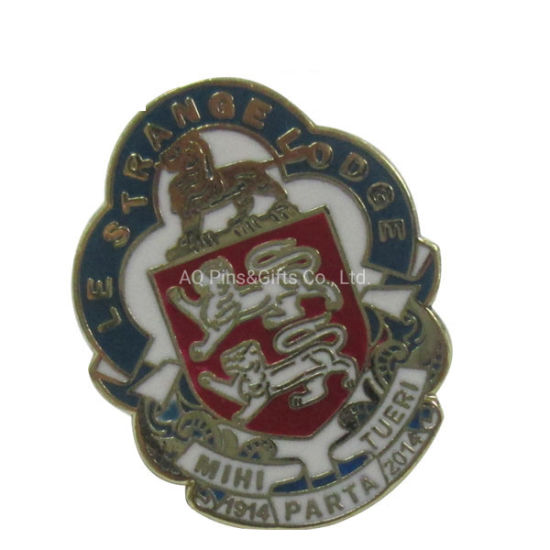 Souvenir Military Badge with Color Infilled and Back Safety Pin (292)