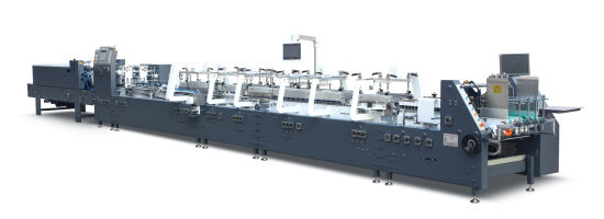 400m/H High Speed Full Automatic Folding Gluing Machine for Making Box and Carton GS Series