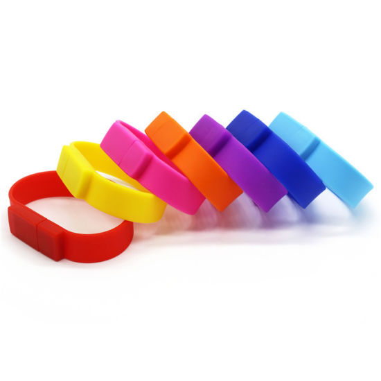 Hot Sell Pendrive Silicone Wrist Strap USB Flash 32GB 16GB 8GB 64GB 512MB Wholesale Wristband U Disk (UL-P036)
