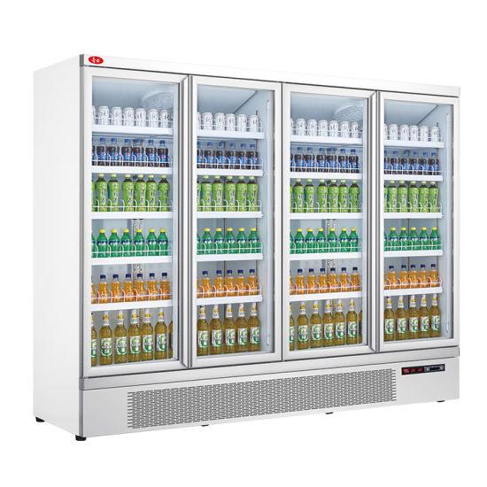 Fan Cooling Display Type Freezer Beverage and Milk Display Freezer