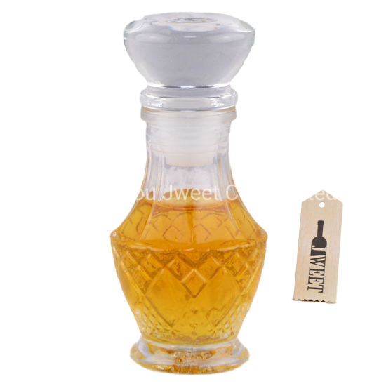 Mini Liquor Vodka Glass Bottle Decanter 50ml with Cork Lid