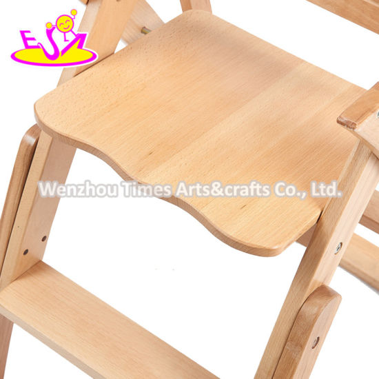 China 2020 New Design Brown Wooden Baby Trend High Chair For