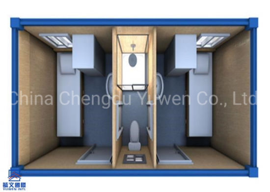 Sandwich Panel Temporary Camp Two Deds Mobile Shipping Container Homes