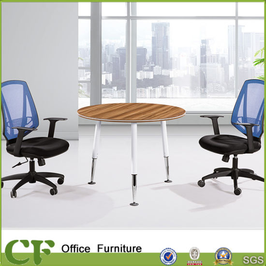 China Small Round Office Conference Desk With Metal Legs China - Small round office conference table
