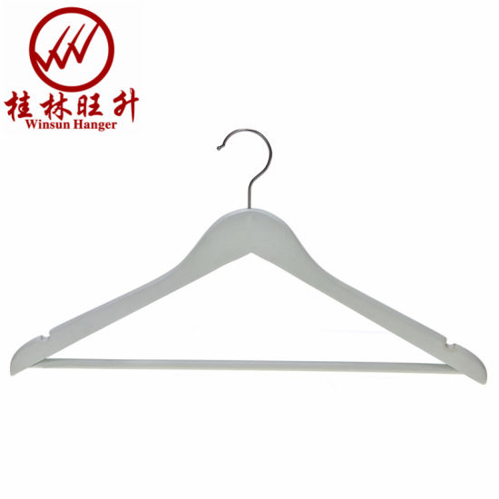 Customized Corlored Wood Clothes Hanger Wooden Coat Hanger Best Selling in USA Amazon
