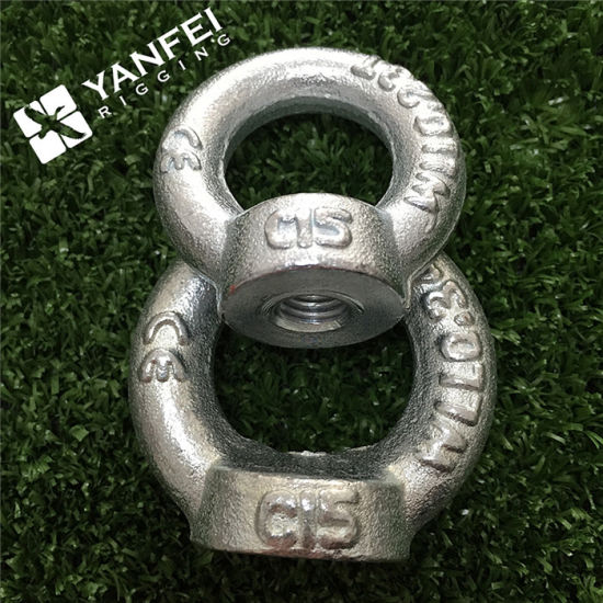 Drop Forged Metric DIN 582 Lifting Ring Eye Nuts 2 pcs C15 Steel M30-3.5