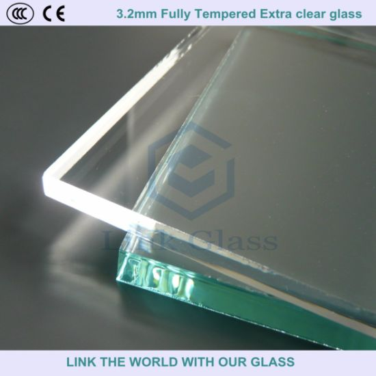 3.2mm/4mm Fully Tempered Extra Clear Glass for Solar Collector Cover pictures & photos
