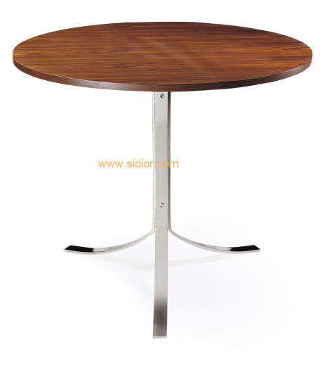 (SD 3005) Modern Cafe Restaurant Furniture Round Wooden Dining Table