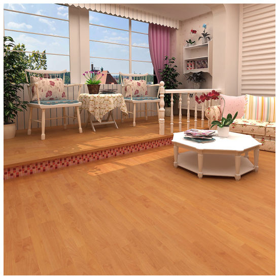 China 8mm 12mm Eir Light Yellow Oak High Quality Laminate Flooring