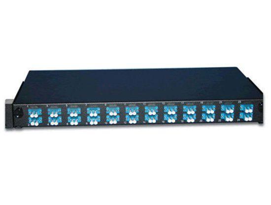 19 Inch Rack Mounted 24 Port Fiber Optic Patch Panel
