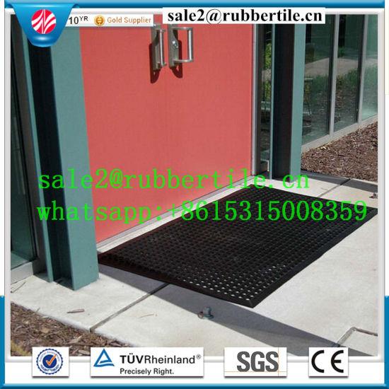 Qingdao Colorful Anti Fatigue Hotel Restaurant Kitchen Rubber Floor Mat