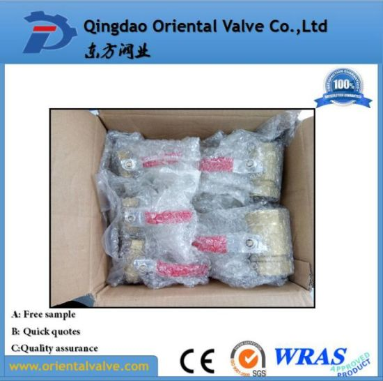 1/4, 3/8, 1/2 NPT Pneumatic Cheap Brass Ball Valve for Water Air Oil and Gas pictures & photos