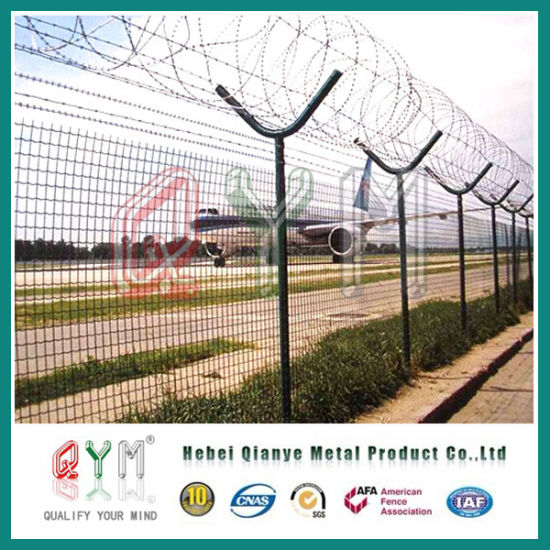 China Welded Wire Mesh Airport Fence/High Security Razor Barbed Wire ...