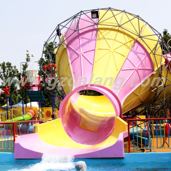 Small Trumpet Water Slide with Skin Raft
