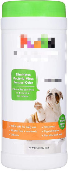 Safe Antibacterial Dog Wipes, Deodorizing Dog Wipes, Cleaner & Grooming Wipes