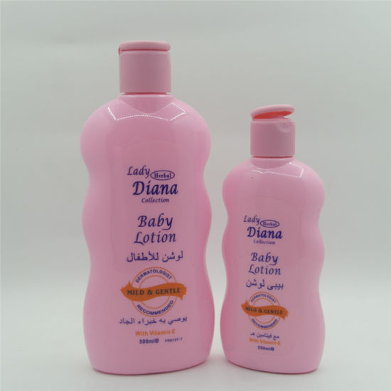 Parya 500ml and 250ml Diana Baby Lotion with Vitamin E Mild Gentle