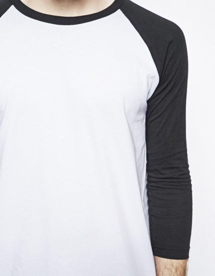 Custom Mens Cotton Raglan Sleeve Long T Shirts pictures & photos