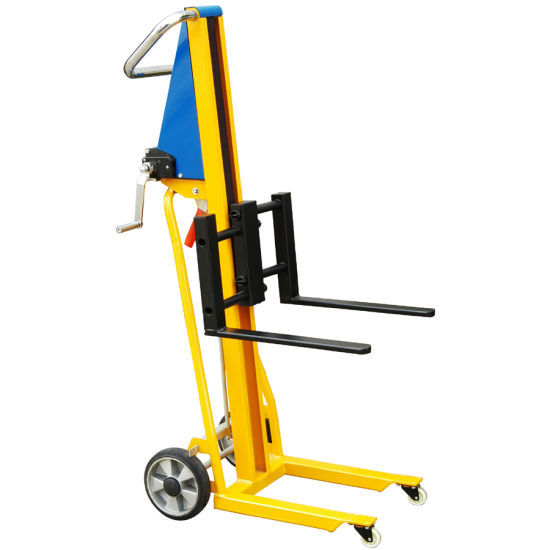 china mini hand winch fork lifter truck 120kg capacity china winch stacker mini manual stacker. Black Bedroom Furniture Sets. Home Design Ideas