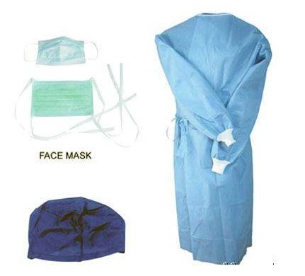 China PP /SMS Sterile Disposable Medical Gowns / Isolation Gown ...