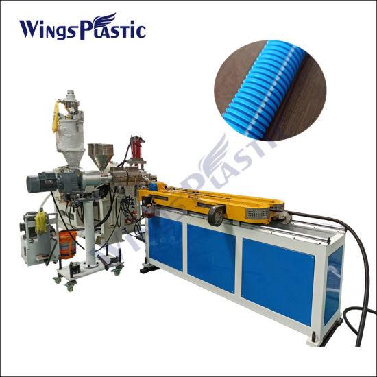 Plastic PP PVC Single Wall Corrugated Lavabo Pipe Tube Hose Extrusion Production Line