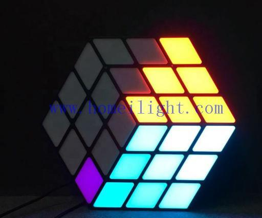 New Product Portable Colorful RGB 3in1 3D Magic Cube Wall LED for Stage Show Lights