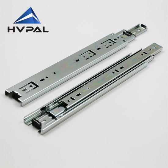 3 Folds 45mm Drawer Slide For Kitchen Cabinet China Slide Rail 90lbs Drawer Slide Made In China Com
