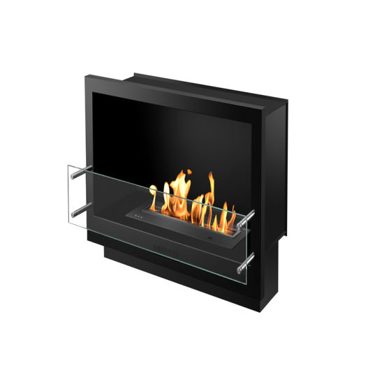 China Home Decorate Stainless Steel Ethanol Electric Fireplace
