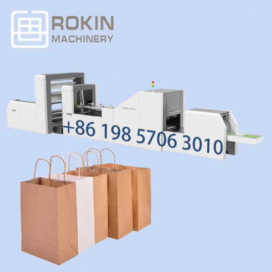 Wholesale Gift Clothing Packaging Twisted Handle Paper Bag Making Machine