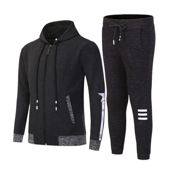 Mens Full Tracksuit Set Slim Fit Zip Up Sweat Hoodie Jogging Bottoms Sportswear