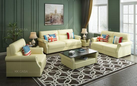 Design Modern Leatheru Shaped Sectional Sofa Luxury American Home Furniture