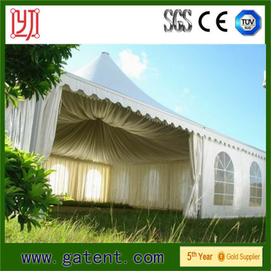 China Outdoor Small Canopy Pagoda Tent 6x6m For Wedding Reception
