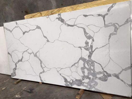 Man Made Calacatta White Quartz Slab/Quartz Countertop