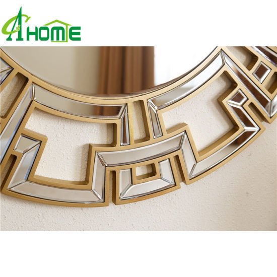 China 2016 Hotsale Fancy Round Wall Mirror For Home Decor China Wall Mirror Mirror