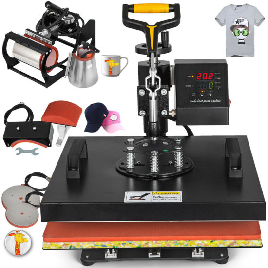 6in1 38X38cm Heat Press Multifunction Machine for Cup, Hat, Plate, Shirt